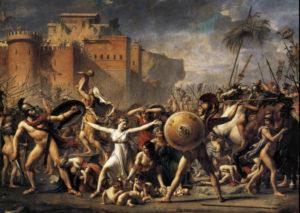 Jacques-Louis David: The Intervention of the Sabine Women - Louvre