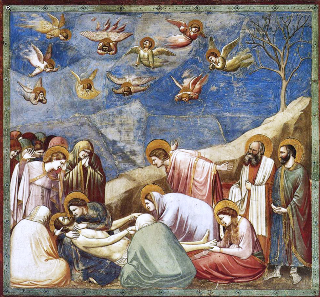 "Giotto ""Lamentation, The Mourning of Christ"""
