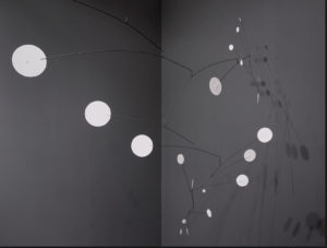 "Calder's ""Snow Flurry"" uses deception to get you to look at a moving sculpture when you think you are going to look at a snow flurry."